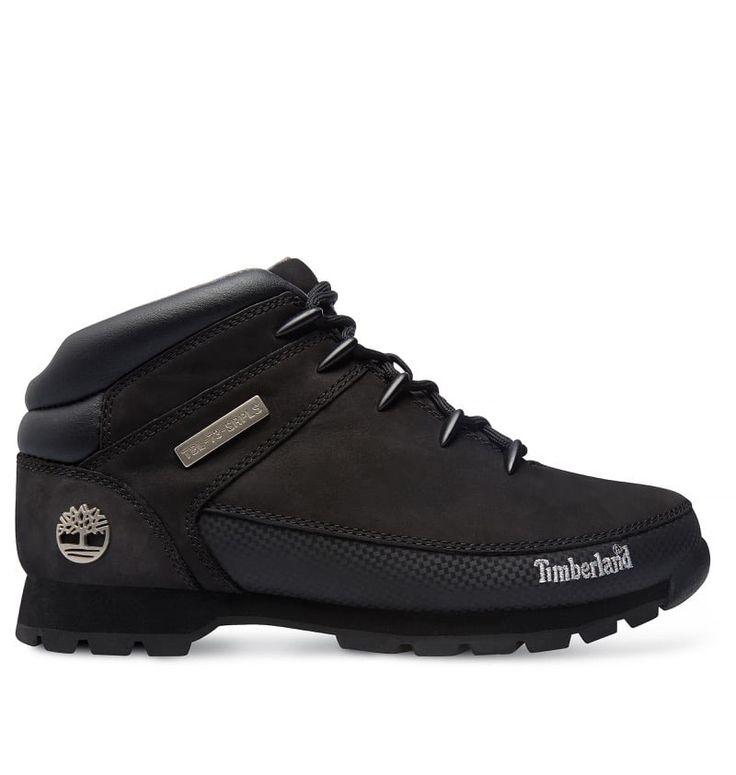 Réf : 6361R  Partez à la ville comme à la montagne avec ces jolies Chaussures pour Homme Timberland Inspired Classics Euro Sprint en cuir de nubuck noir. Elles possèdent une doublure 50% PET recyclé et une semelle d'usure composée de 15% de caoutchouc recyclé. Un véritable écolo ce modèle ! De plus, ces hikers se parent d'un collier rembourré et d'une semelle intermédiaire réalisée avec le procédé technique EVA.