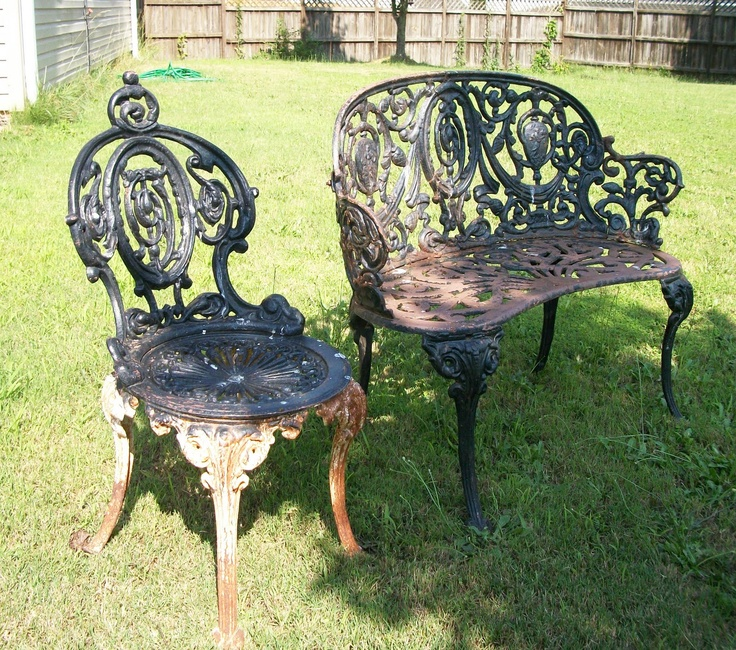 Wrought Iron Patio Set, Tools Are For Women Too!: How To Paint Cast
