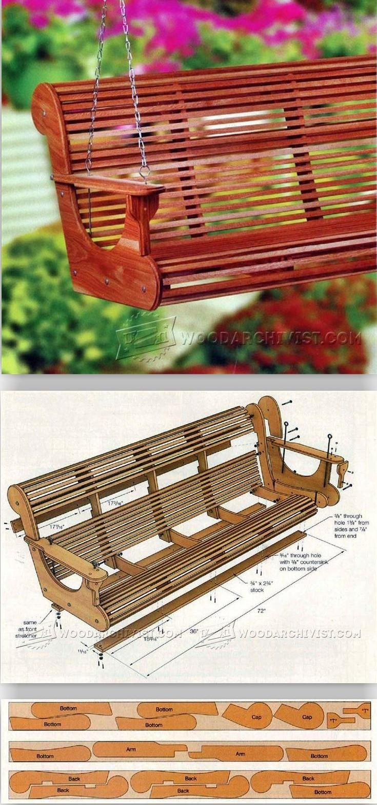 Outdoor furniture plans - Classic Porch Swing Plans Outdoor Furniture Plans And Projects Woodarchivist Com