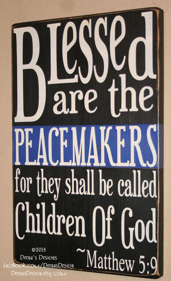 Police Officer Sign Police Decor Blessed Are The by DeenasDesign