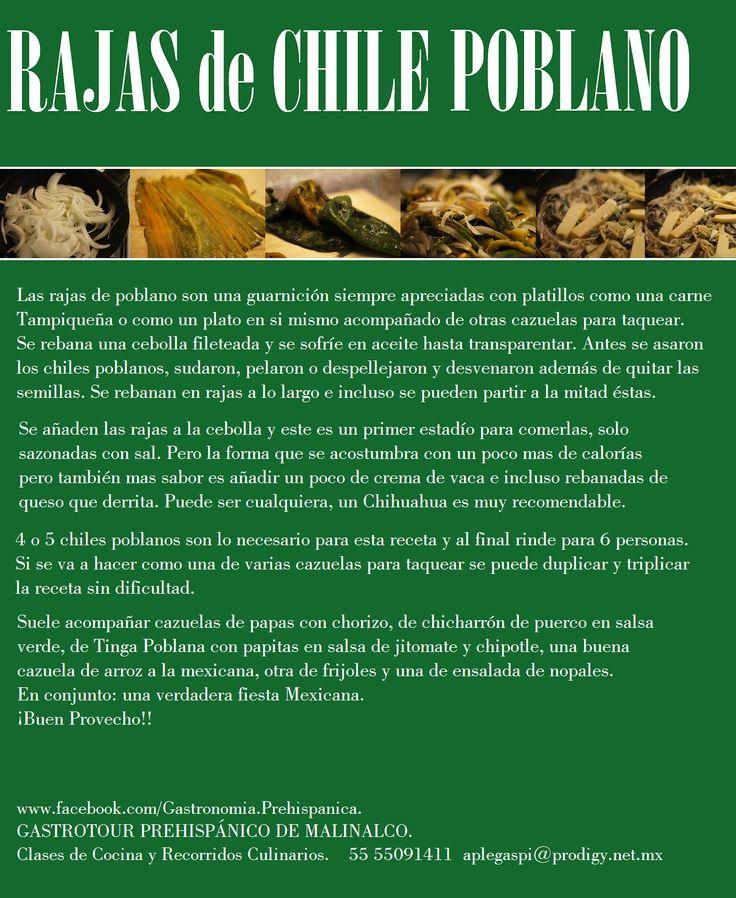 Rajas de Chile Poblano: Recipe Easy, Forbidden Food, Con Amor, Mexicans Food, Cooking With, Recetas Rica, Mexicans Recipe, Chile Poblano, Mexicans Heritage