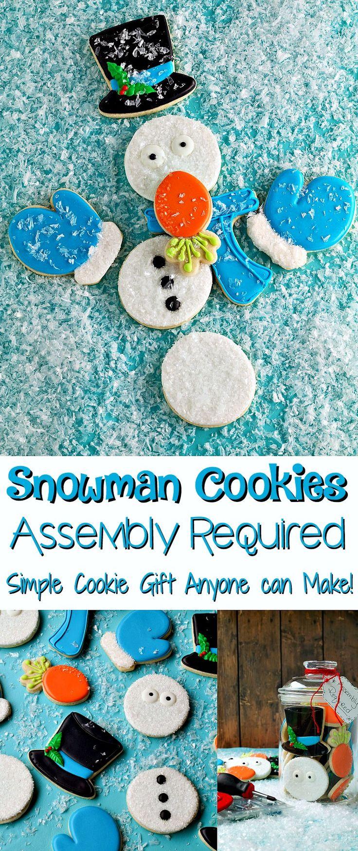 Cute Snowman Cookies by www.thebearfootbaker.com