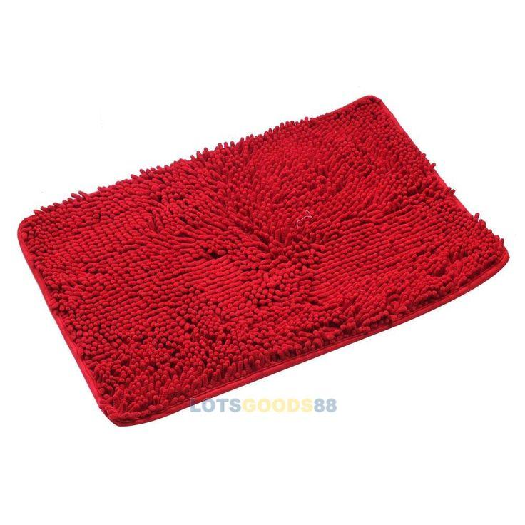 Ls4g пол в ванной комнате коврики , не мохнатые коврики для вытирания ног толстые шаг куча красный новый
