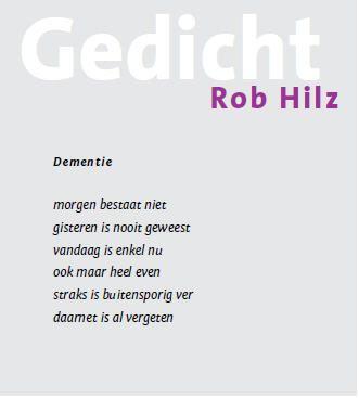 gedicht Rob Hilz