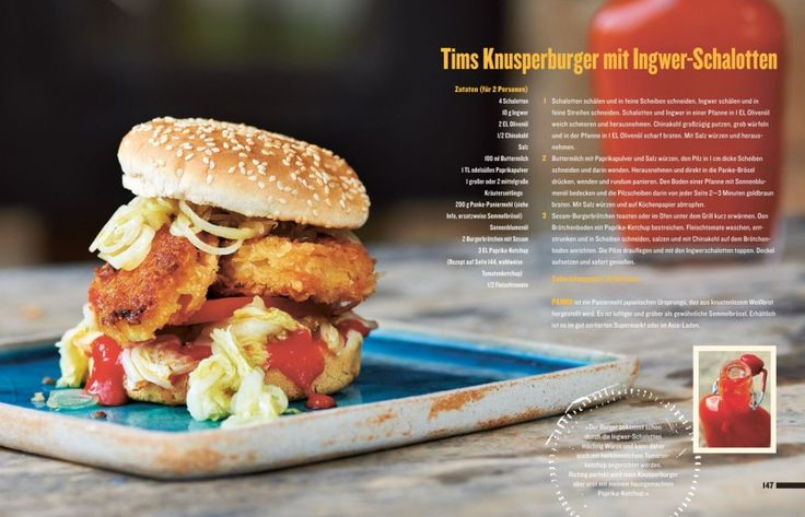 Tim Mälzer - vegetarischer Burger mit Ingwer-Schalotten