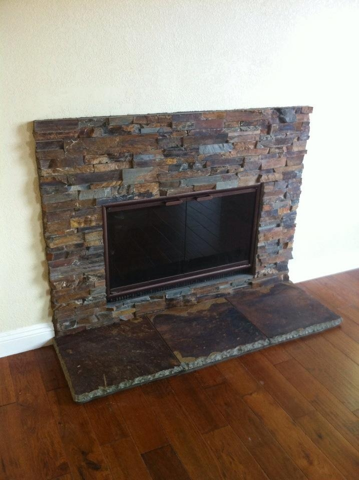 fireplace slate. Sweet Stacked Slate fireplace CDC did last year in DeLuz  26 best Rustic Tile Hearths images on Pinterest Basements