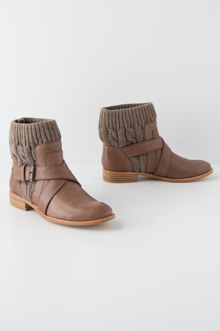 cableknit booties-- these have to be available somewhere else for less $$ than Anthropologie, but LOVE!!!!