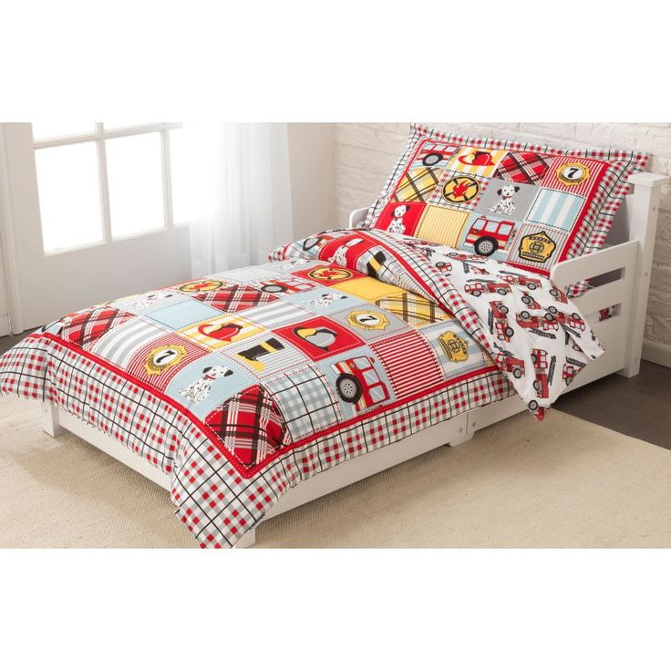 KidKraft Fire Truck Toddler Bedding - 77003 - 77003