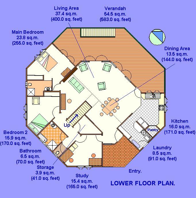 Floor Plan Of A 2 Story Yurt Round House Pinterest