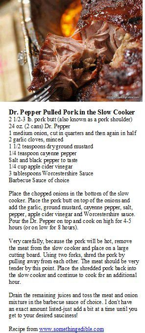 Dr Pepper Crockpot Pulled Pork