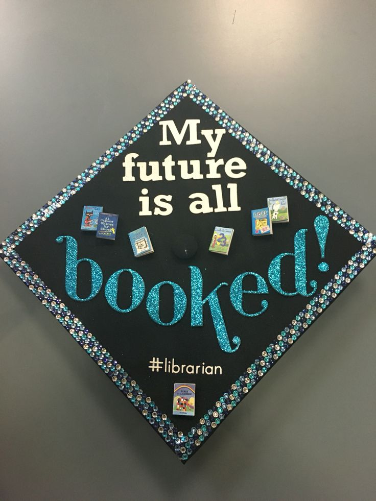Graduation hat--mortarboard--librarian MS Ed