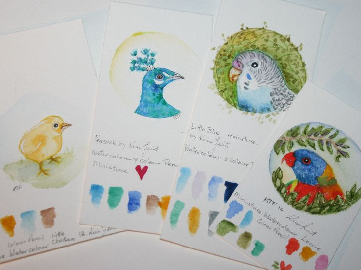 https://flic.kr/p/QuYRzt   tiny birds   These little painting are no bigger than a 50 cent piece or about 3cm in diameter. I do these on scrap paper because I love to paint small.