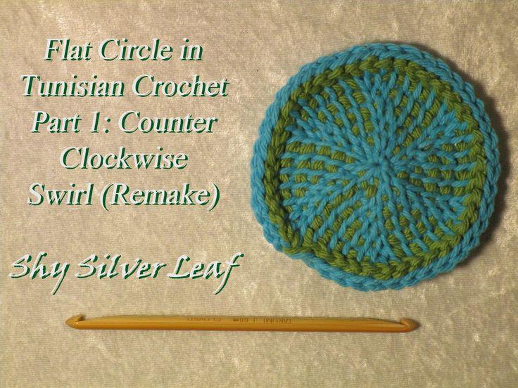 Flat Circle in Tunisian Crochet - Part 1: Counter Clockwise Swirl (Remake)
