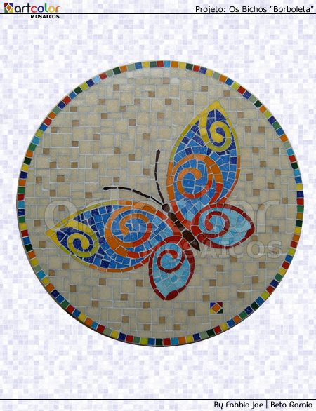 Mosaico - Borboleta by Artcolor mosaicos - Beto Romio & Fabbio Joe, via Flickr