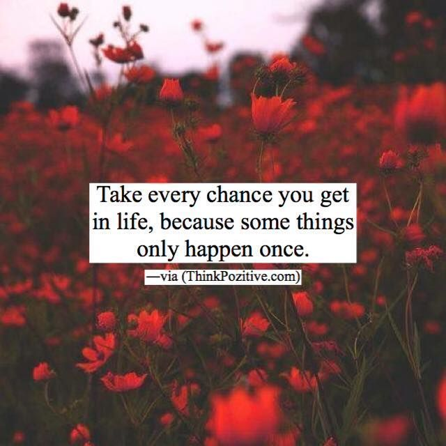 You Get Life Once Quotes: Best 25+ Taking Chances Ideas On Pinterest