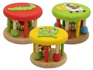 Detalle infantil sonajero madera con cascabel ,regalo juego madera sonajero animales infantil #Grandetalles