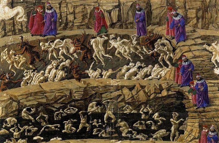 botticelli dante | sandro botticelli inferno canto xviii 1480 o oitavo circulo que dante ...