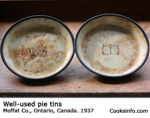 What does your family call pie plates? Pie pans, pie tins, pie dishes? Some people try to differentiate terms -- reserving pie pans or tins for metal ones, pie plates for glass ones, and pie dishes for ceramic or pottery ones -- but it's pretty hopeless. You'll likely use the term your mother did.