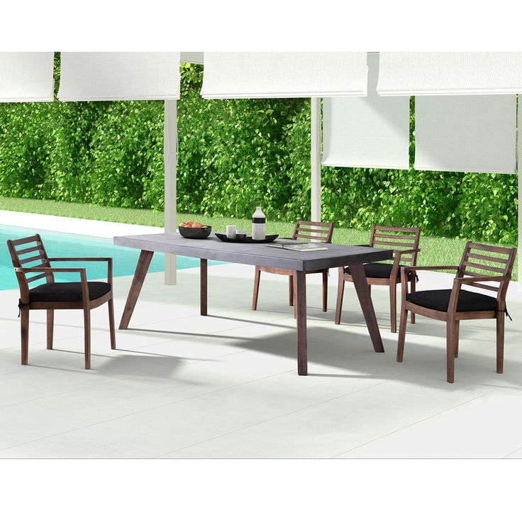 Outdoor Cement Dining Table | Blakely Collection | Thos. Baker