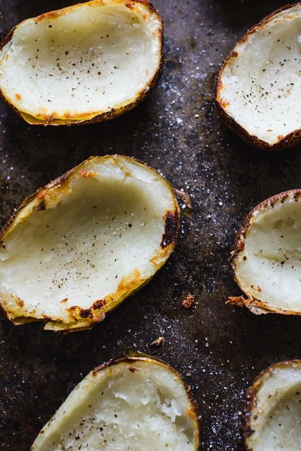 Loaded Baked Potato Skins | edibleperspective.com