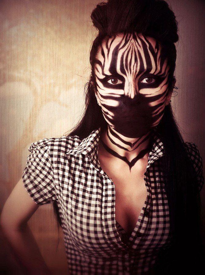 Zebra. #zebra_makeup