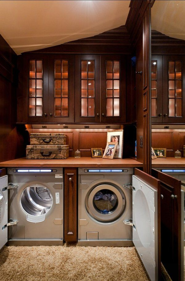 Such Rich, Opulent Hues In This Laundry Room. Love The Custom Doors On The Part 33