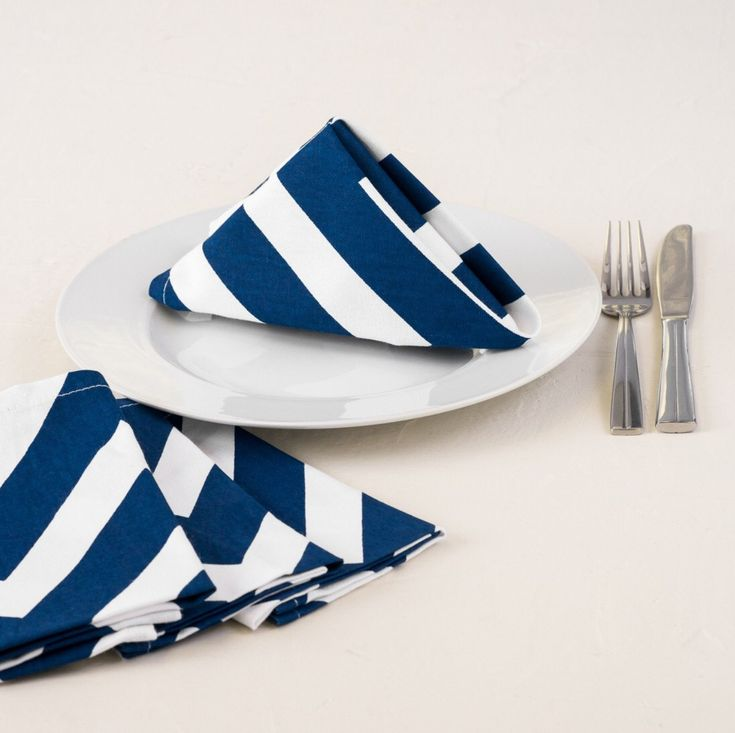 Huge sale! Set of 50 or more navy blue striped napkins, only 1.50 each! nautical, preppy, wedding decor, beach, baby shower, diff colors by FantasyFabricDesigns on Etsy