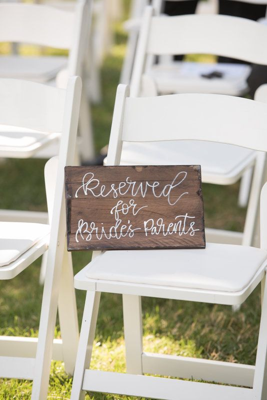 DIY Reserved Seating Sign Sarah and Scooter Photo By Gina Petersen Photography