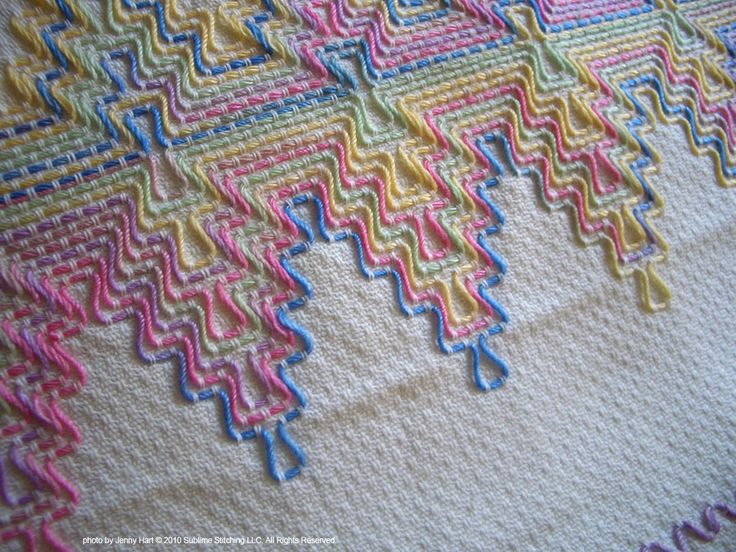 Huck Work / Swedish Weaving - I need to find the supplies for this and do some! Beautiful!