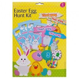Have a fun filled Easter egg hunt with the family. Each kit contains clues and signs to make the hunt really authentic.
