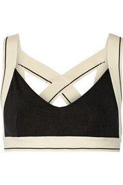 X stretch-jersey sports bra