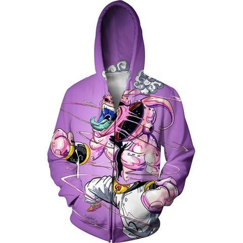 Majin Buu Purple Zip Up Hoodie - JAKKOUTTHEBXX - JAKKOU††HEBXX