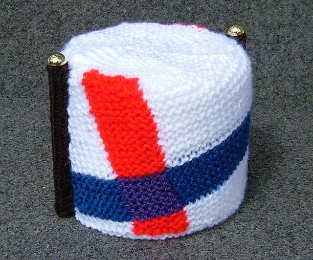 The National Flag of Lovely - Toilet roll cover made for Danny Wallace's 'How to start your own country'