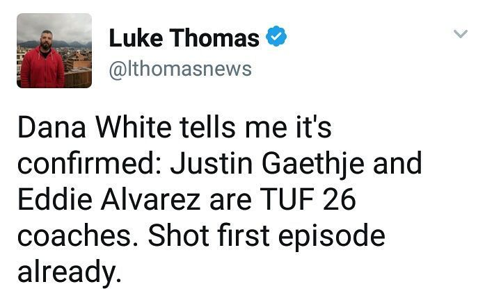 Well the next episode of The Ultimate Fighter just got a bit more interesting as former UFC champion Eddie Alvarez and former wsof champion and new lightweight headliner Justin gaethje are sets coach opposite of each other.  What do MMA fans think of the coaches for the next season of The Ultimate Fighter? Boring or sweet?  http://ift.tt/2s8zdbq  #mma news #ufc news #bjj #bjjgirls #love #instagood #mmahypewatch #conormcgregor #rondarousey #ronda rousey #boxing #taekwondo #silat #conor…