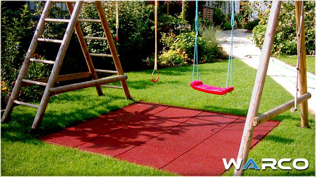 Backyard Play Area Ideas Flooring And A Rubber Swing