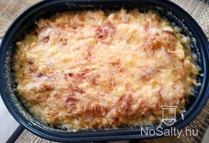 Rakott karfiol baconnel és sajttal