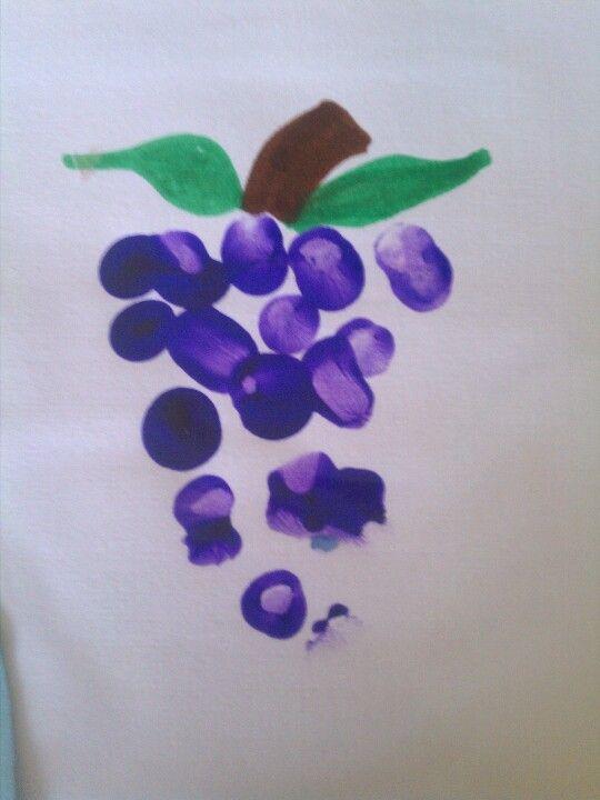 Fingerprint grapes for Summer theme