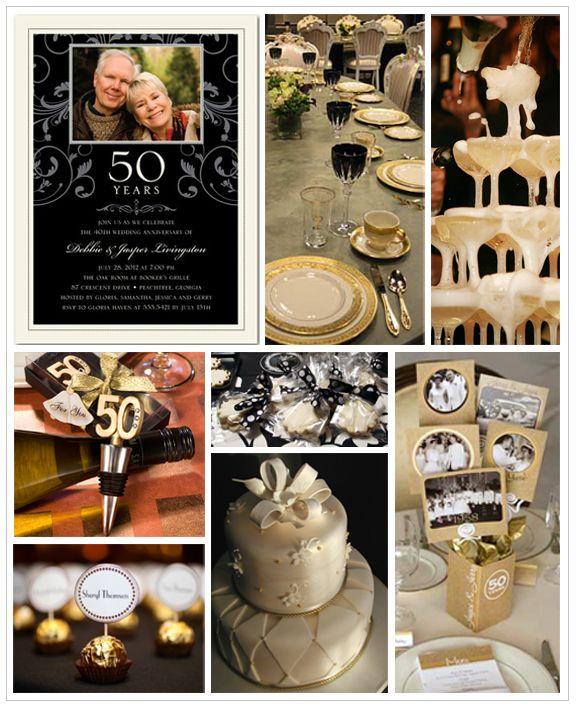 Elegant Anniversary Party Inspiration Board