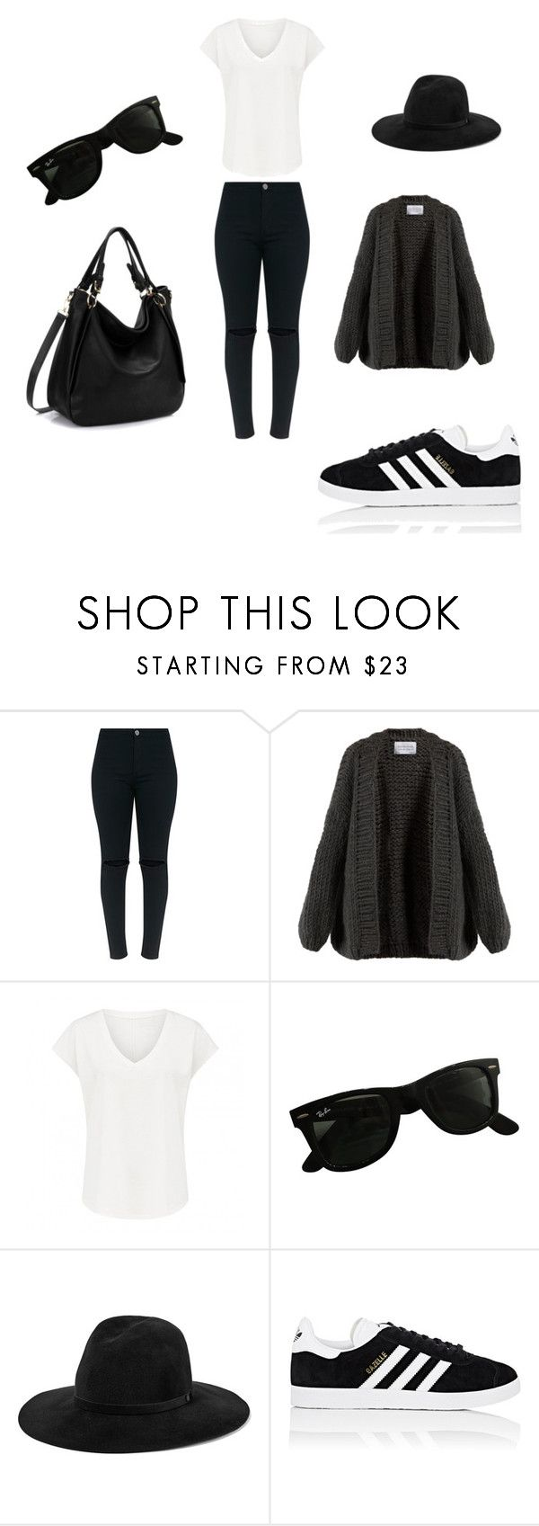 """Urbano. Viernes Casual (35 años)"" by jesica-cropanese on Polyvore featuring moda, I Love Mr. Mittens, Ray-Ban, rag & bone y adidas"
