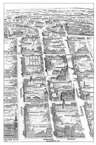 Map of Melbourne showing Chinatown. #twistedhistory #melbournemurdertours