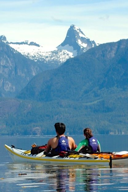 Love towering mountains? Remote wilderness? Taking a sea kayaking tour in Desolation Sound, BC will satisfy that itch to explore the beauty of Canada's wild places. Perfect for a honeymoon.