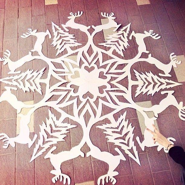 Ггигантская снежинка