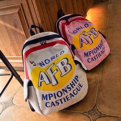 БФ ветер Корейский обычай старинных европейских и американских хит цвет письмо Harajuku плече сумка рюкзак школьный женский холст мягкий сестра