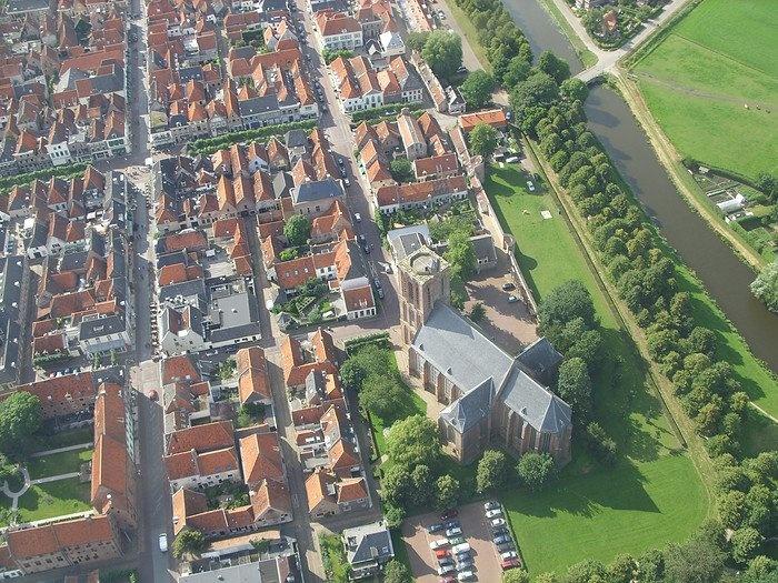 Kwart van Vesting Elburg Met de kerk