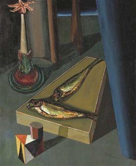 I pesci sacri By Giorgio de Chirico ,1919