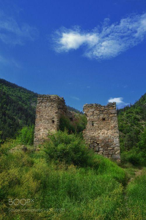 Ruins of Gogia fortress by Daviti  Landscape Mountains Historical Georgia Borjomi Caucasus Fortress Gorge Samtskhe Javakheti Daviti