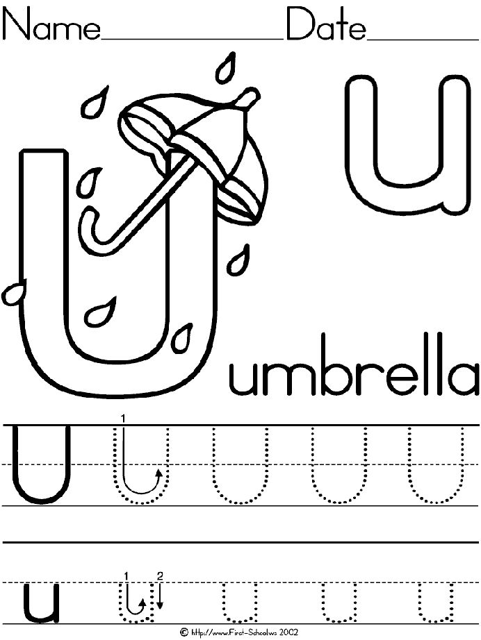 Letter U activities and printables