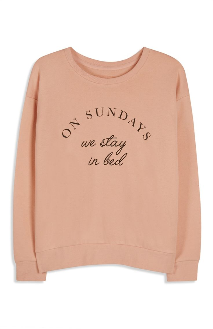 Primark london fashion week day in the life primark womenswear - Primark Blush Sunday Slogan Sweatshirt