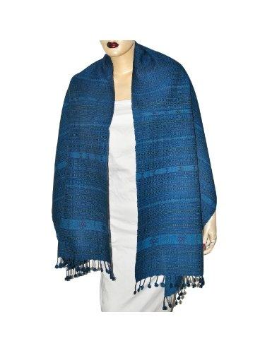 Grande écharpe fashion pour femmes - Etole bleue en laine: Amazon.fr: Vêtements et accessoires