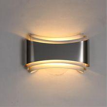 Ecolight Современные светодиодные настенные светильники для спальни кабинет Нержавеющая сталь + Акрил 5 Вт бра украшения дома бесплатно доставка
